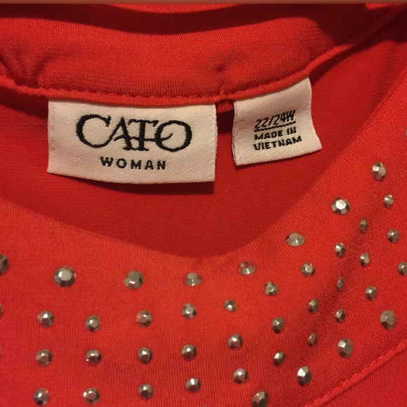 Cato Tops - Cato Women's 22/24W Slinky Sleevless Studded Tank